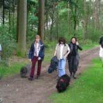 Puli Wanderung in Echt in Holland Wald