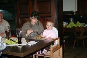 Weihnachtsfeier 2009 mit Baby
