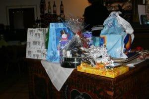 Weihnachtsfeier 2009 mit Geschenken