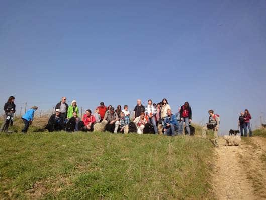 Frühlingswanderung der Landesgruppe Mitte in Gau Algesheim 21