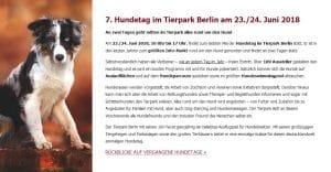 Hundetag im Tierpark Berlin @ Hundetag im Tierpark Berlin | Berlin | Berlin | Deutschland