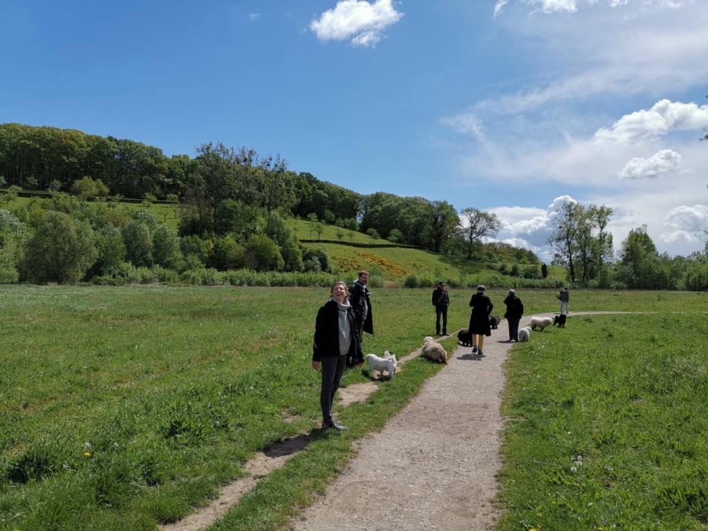 Die Umgebung war einfach wunderschön. So viel Sonne und die Hügel waren angeleuchtet.